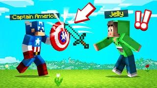 Fighting CAPTAIN AMERICA In SPEEDRUNNERS VS. HUNTERS! (Minecraft)