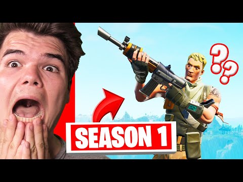REACTING To My FIRST TIME Playing FORTNITE! (Season 1)