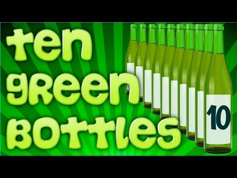 Ten Green Bottles - SING-A-LONG - LARGE TEXT