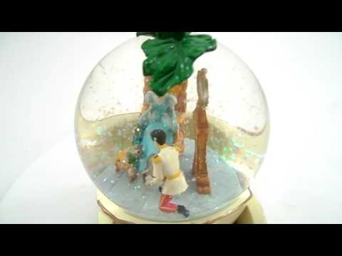 cinderella carriage musical snow globe