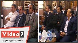 الليثى وعمرو سعد يؤديان واجب العزاء فى وفاة الإعلامى أمين بسيونى