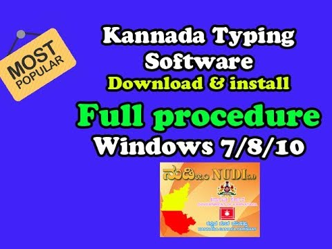 Kannada Nudi Software For Windows 7 Free Download