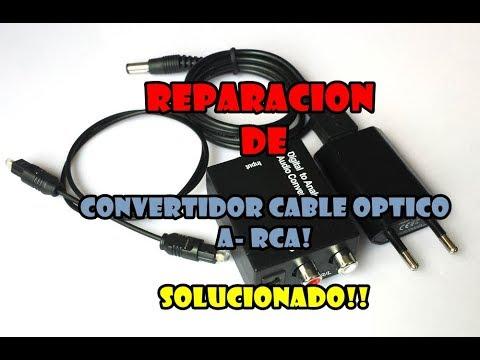 convertidor óptico a rca no funciona | SOLUCIONADO!!