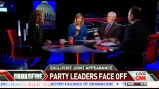 EPIC: Reince Priebus and Debbie Blabbermouth-Schultz go head to head in shouting match on Crossfire