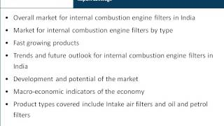 India Market Research Report : Internal Combustion Engine Filter Market in India