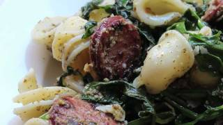 Pasta with Arugula and Sausage