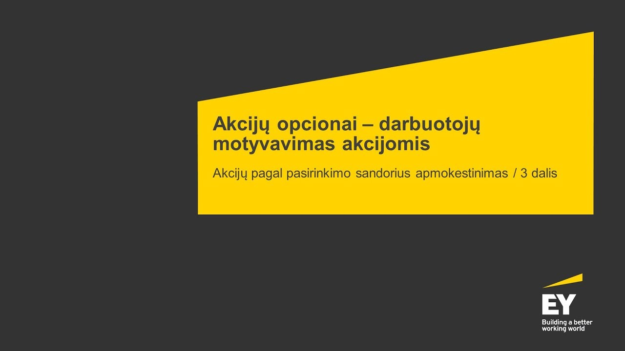 akcijų opcionai palyginti su akcijų opcionais)
