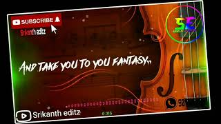 Violin song whatsapp status lyrics telugu || iddarammayalatho movie song whatsapp status lyrics ||