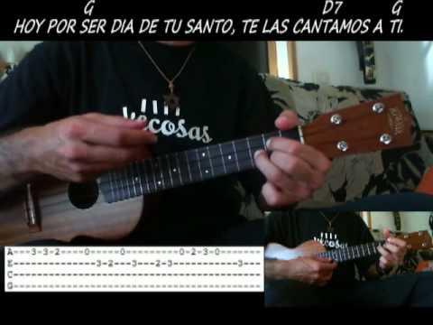 Guitar las mananitas guitar tabs : Las Mañanitas con PDF - Popular (Acordes, Tabs y letra) - YouTube