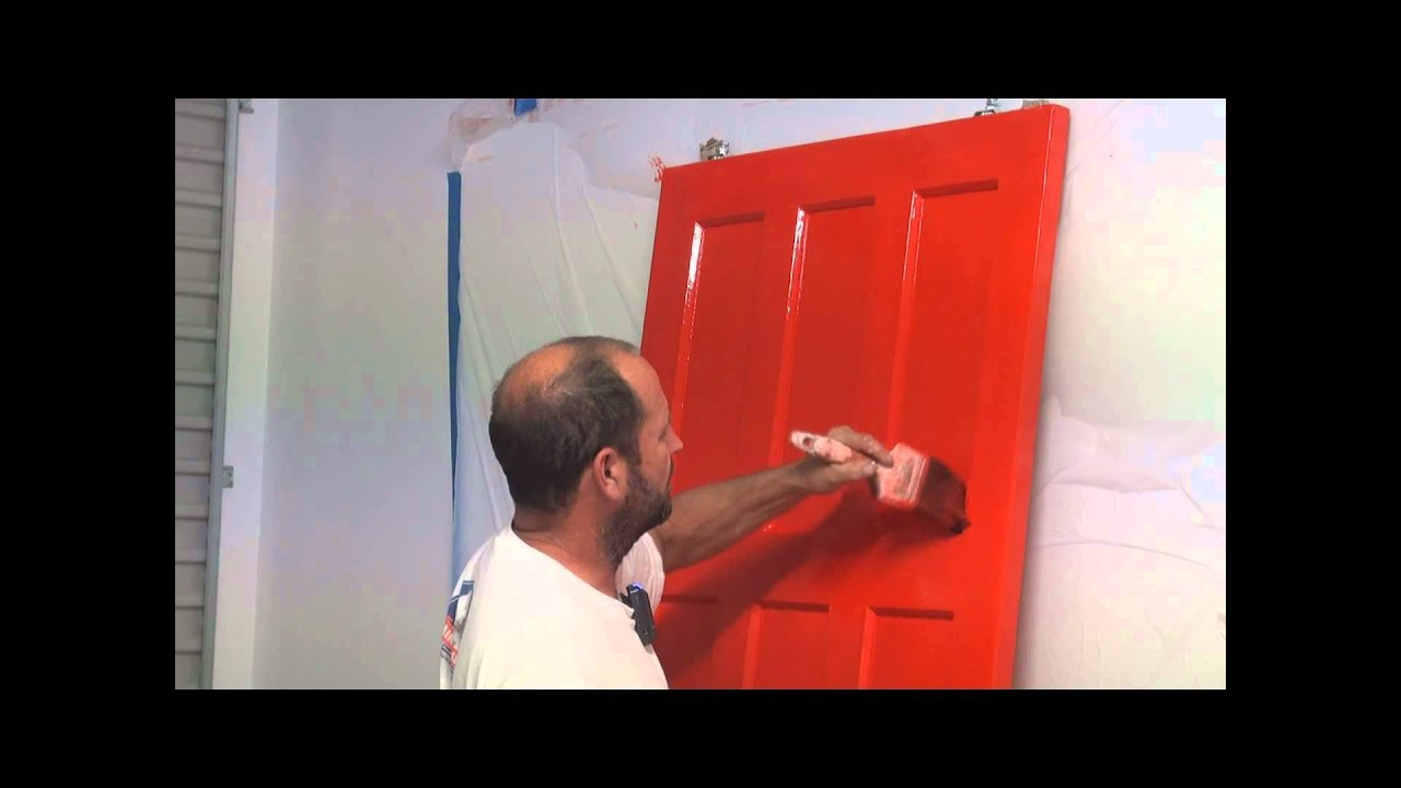 paint a panel door how to brush paint an interior paneled door using. Black Bedroom Furniture Sets. Home Design Ideas