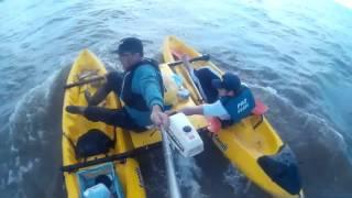 Catamaran kayak ,estreno y pesca