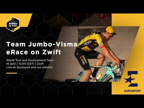 Team Jumbo-Visma eRace on Zwift