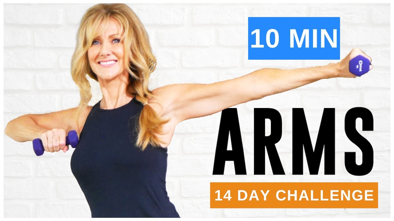 10 Minute Tone Your ARM Workout With WEIGHTS For Women Over 50!
