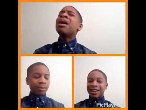 "13yr old -Caleb Carroll sings Split Screen-Cover of Fred Hammond- ""I will Trust"" -@calebcarroll2020"