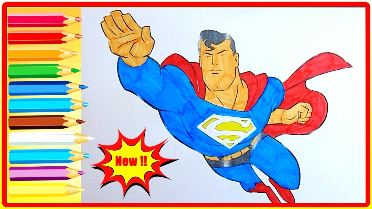 superman coloring pages for kids superman coloring book fun coloring pages for little boy toddlers - Coloring Book Fun
