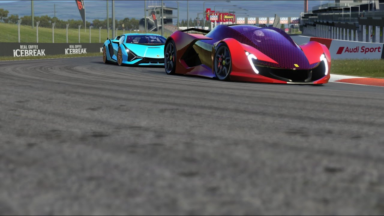 Ferrari Impronta Concept vs Lamborghini Sian at Monza Full Course