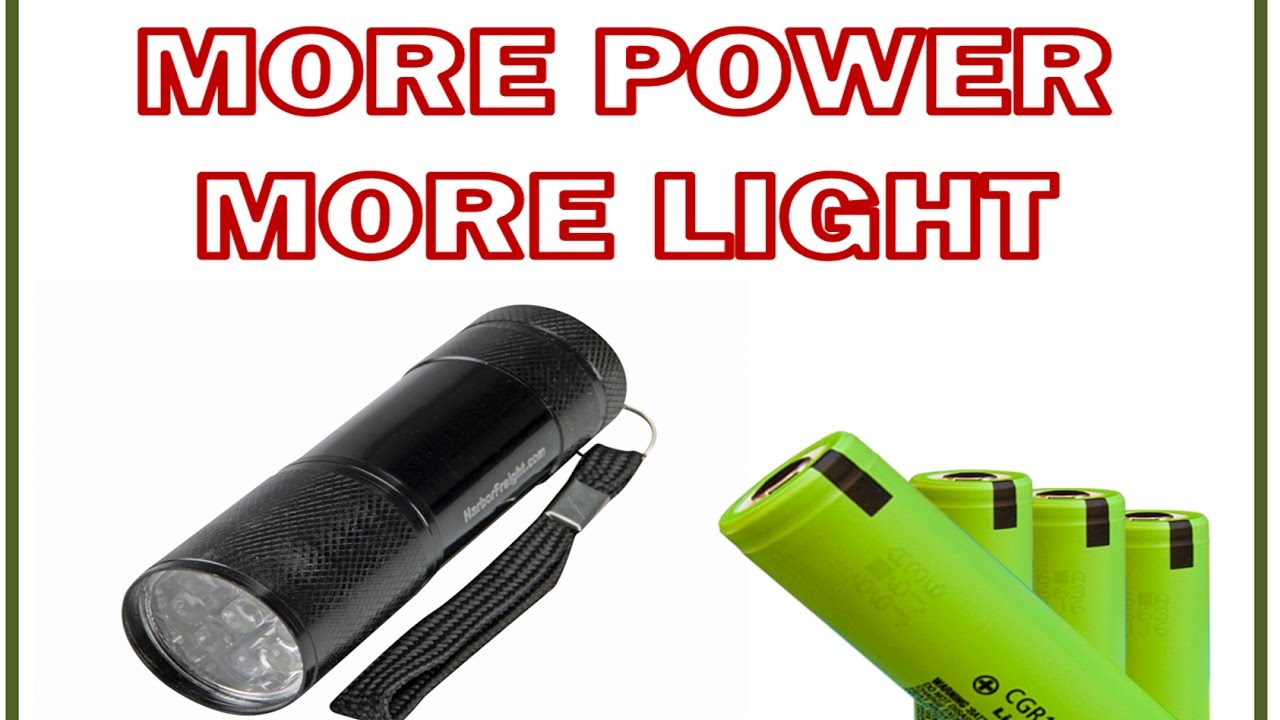 How to make cheap LED flashlight brighter longer lasting ...