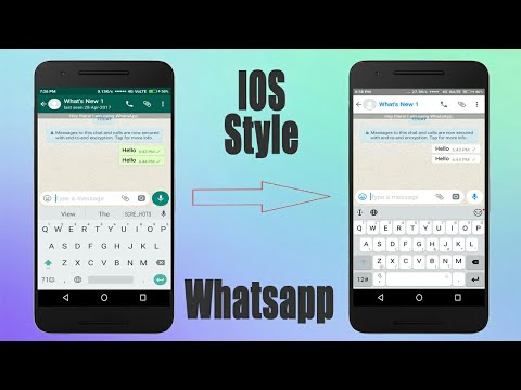 IOS Apple Whatsapp Style On Any Android 2018