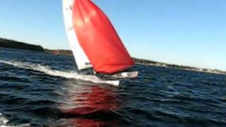 Hobie cat 16 spi - Nouse dive and crashes