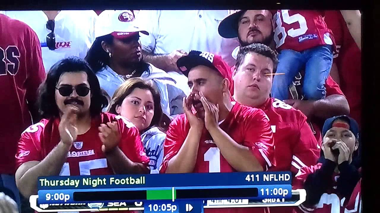 Funny fans from the 49ers and seahawks game youtube voltagebd Images