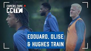 CCTV   Edouard, Olise & Hughes all in training
