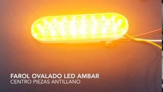 Farol Ovalado LED Ambar MAXM63201Y