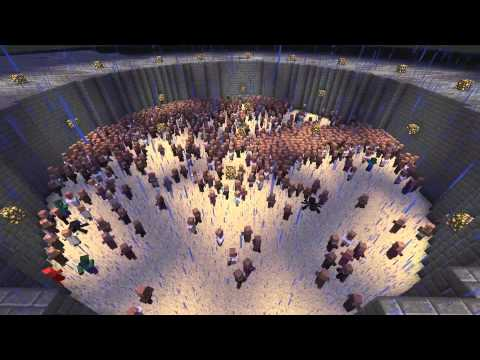 Minecraft: 1 Zombie vs. 1000 Villagers