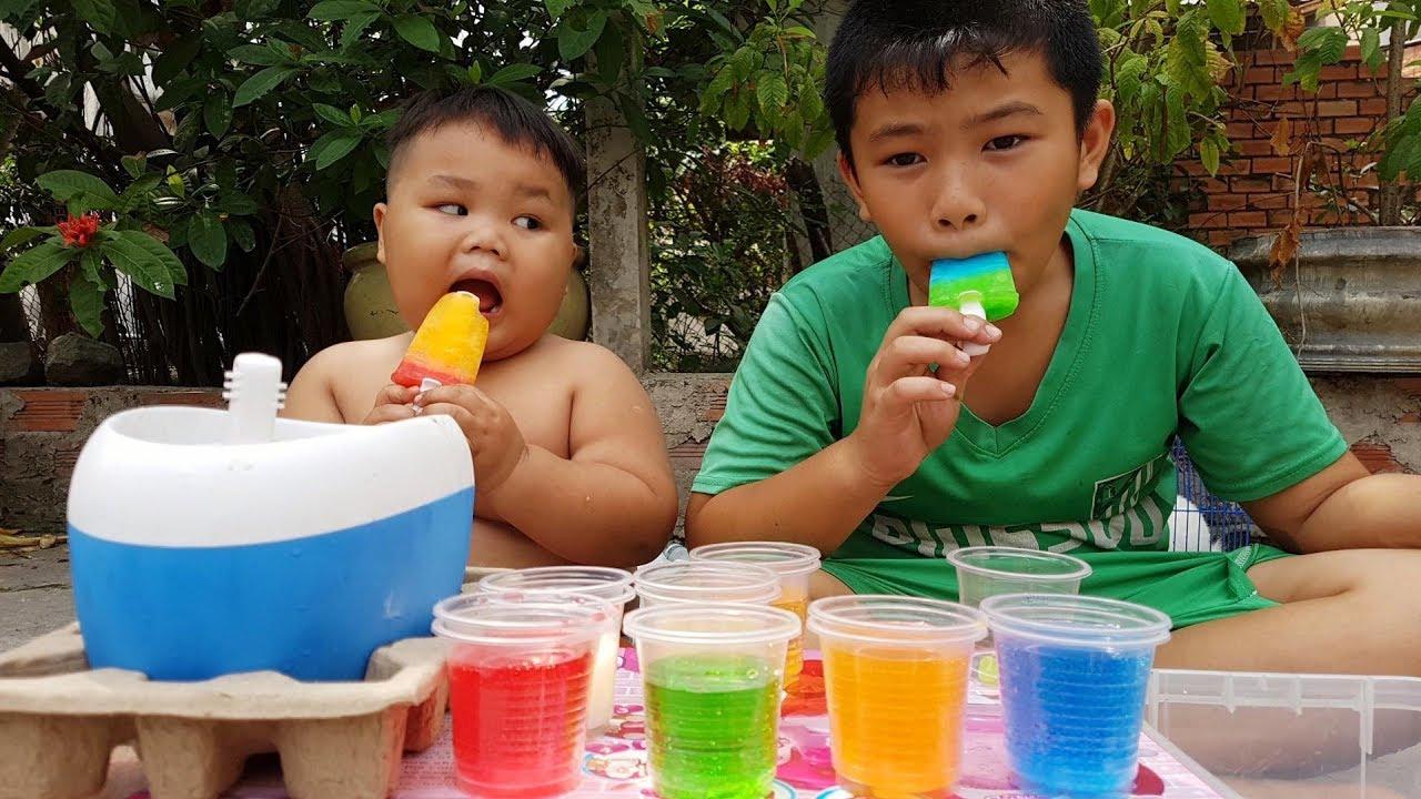 Trò Chơi Máy Học Làm Kem ❤ ChiChi ToysReview TV ❤ Đồ Chơi Ice Cream Fun Song