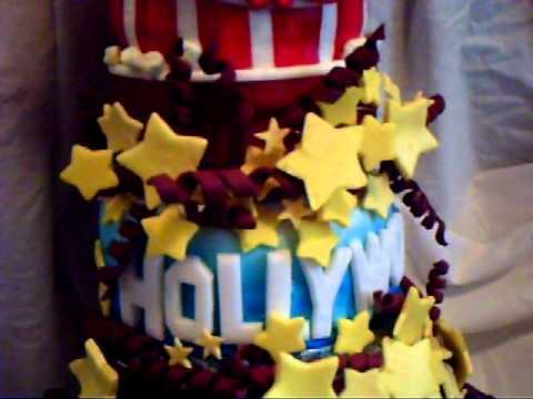 Hollywood Movie Themed Birthday Cake YouTube - Movie themed birthday cake