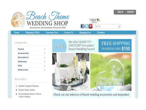 Shipping Policy & FAQs of beachthemeweddingshop.com