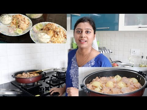 Sunday Special lunch Routine || Chicken Biryani Preparation