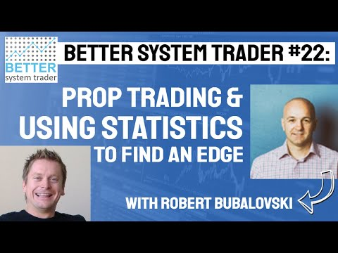022: Robert Bubalovski discusses prop trading, arbitrage, statistical trading and trading success.