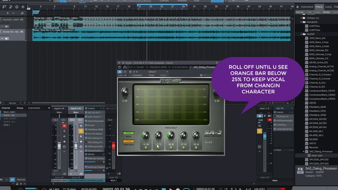 HOW TO FIXS HARSH VOCAL USING MCDSP SA 3 PROCESSING (REGGAE,POP,RAP  ACAPELLA)