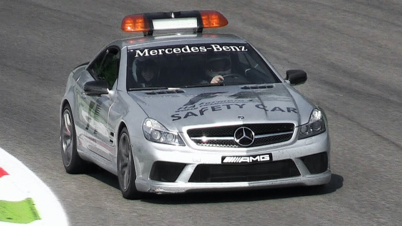 Mercedes Sl63 Amg F1 Safety Car Sound Accelerations Downshifts Fly Bys