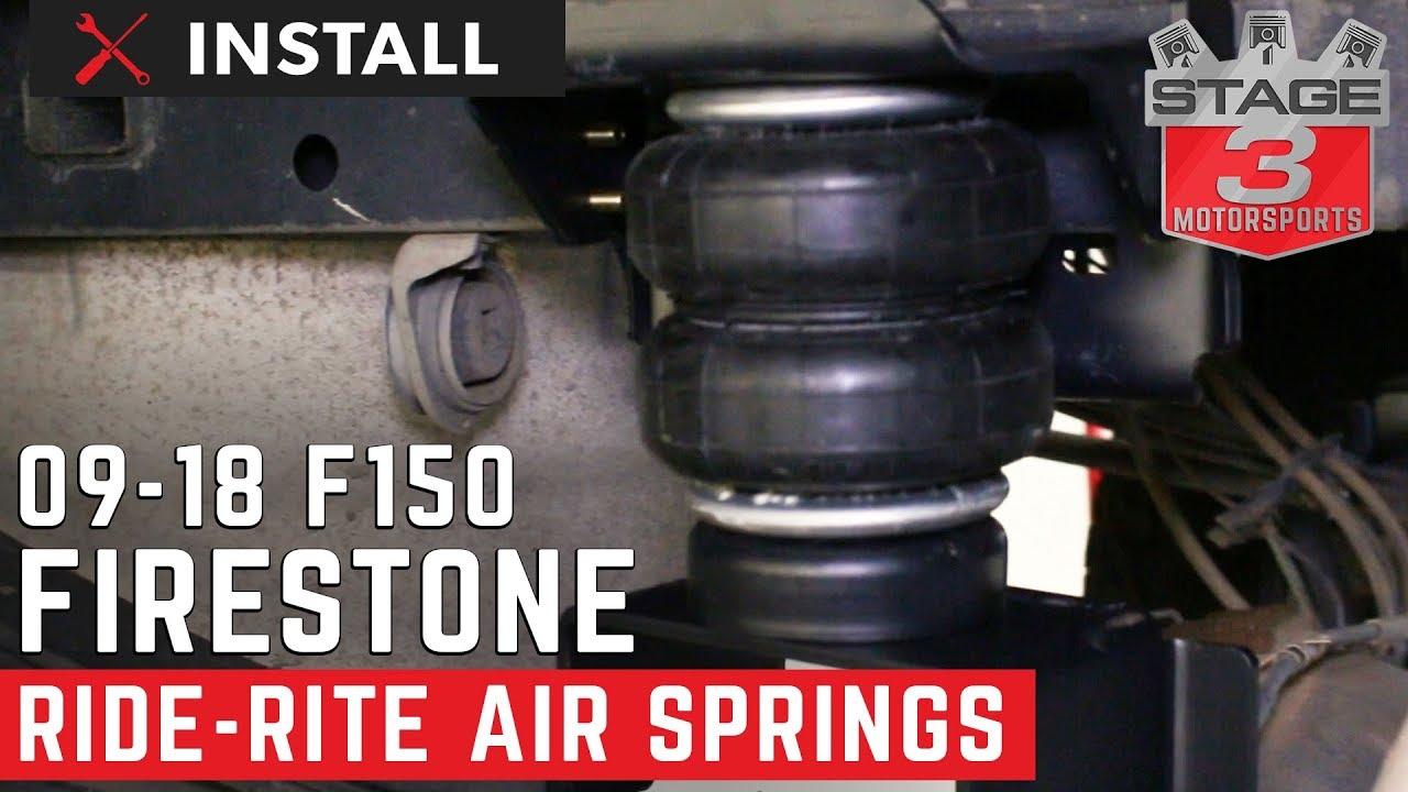 2017 2018 F150 Firestone Ride Rite Rear Air Spring Kit Install