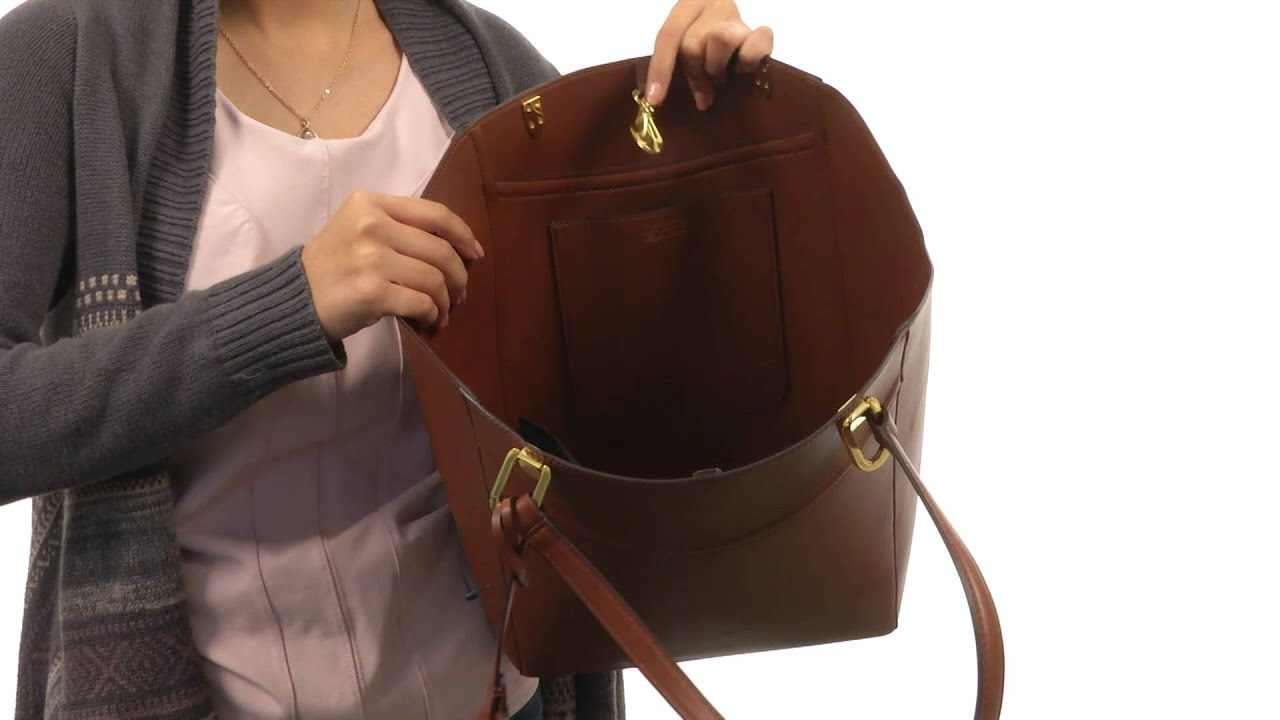 fda6aa2623 LAUREN by Ralph Lauren Lexington Tote SKU 8571354 - YouTube