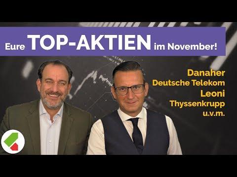 Danaher, Deutsche Telekom, Leoni, Home Depot Uvm.   Echtgeld.tv Feedback (28.11.2019)