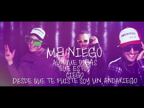 Reik - Me Niego Ft. Ozuna, Wisin  (Fan Lyric Video)