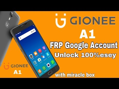Gionee A1 Google account FRP unlock 1000% esey with miracle