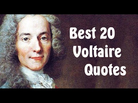 Quotes Voltaire Extraordinary Best 20 Voltaire Quotes  Author Of Candide  Youtube