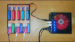 DIY Charging And Discarging Station For 18650 Old Laptop Battery Testing