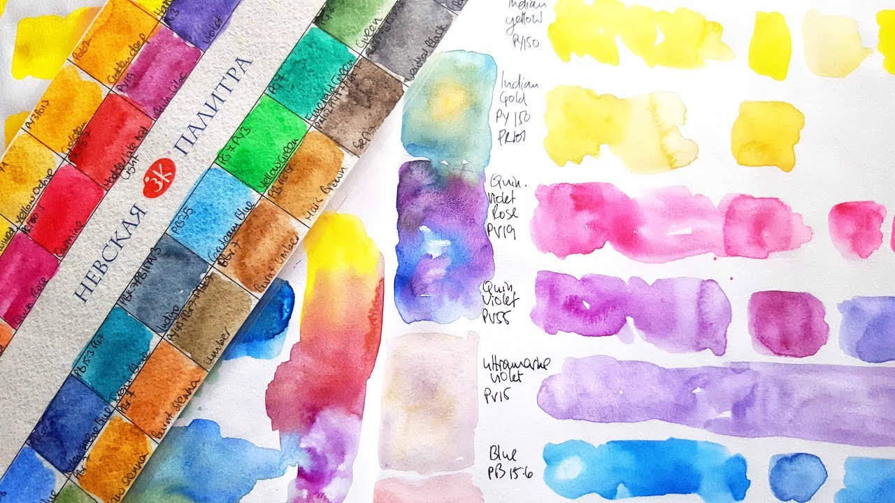 New White Nights Watercolours Swatching Comparison Youtube