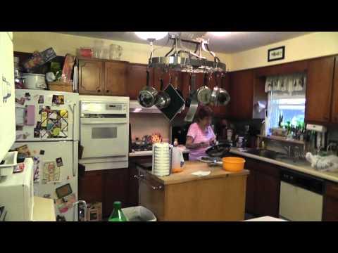 2011 4 28 Geraldine Smith cooking dinner