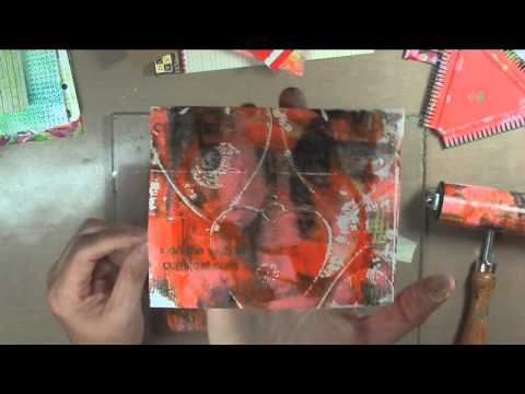18x24 Scrap Collage Part 27 - Gelli Printing Journal Pages