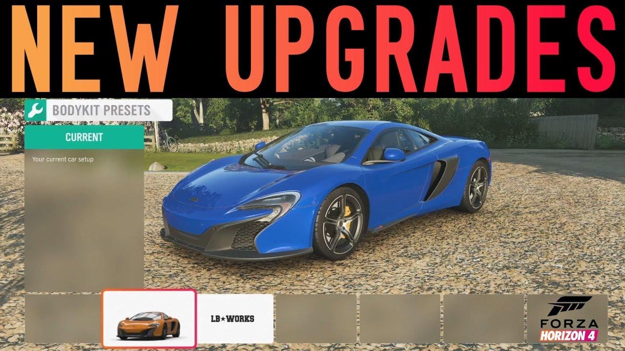 Forza Horizon 4 - NEW CAR CUSTOMIZATION GAMEPLAY + WIDEBODY MCLAREN 650S