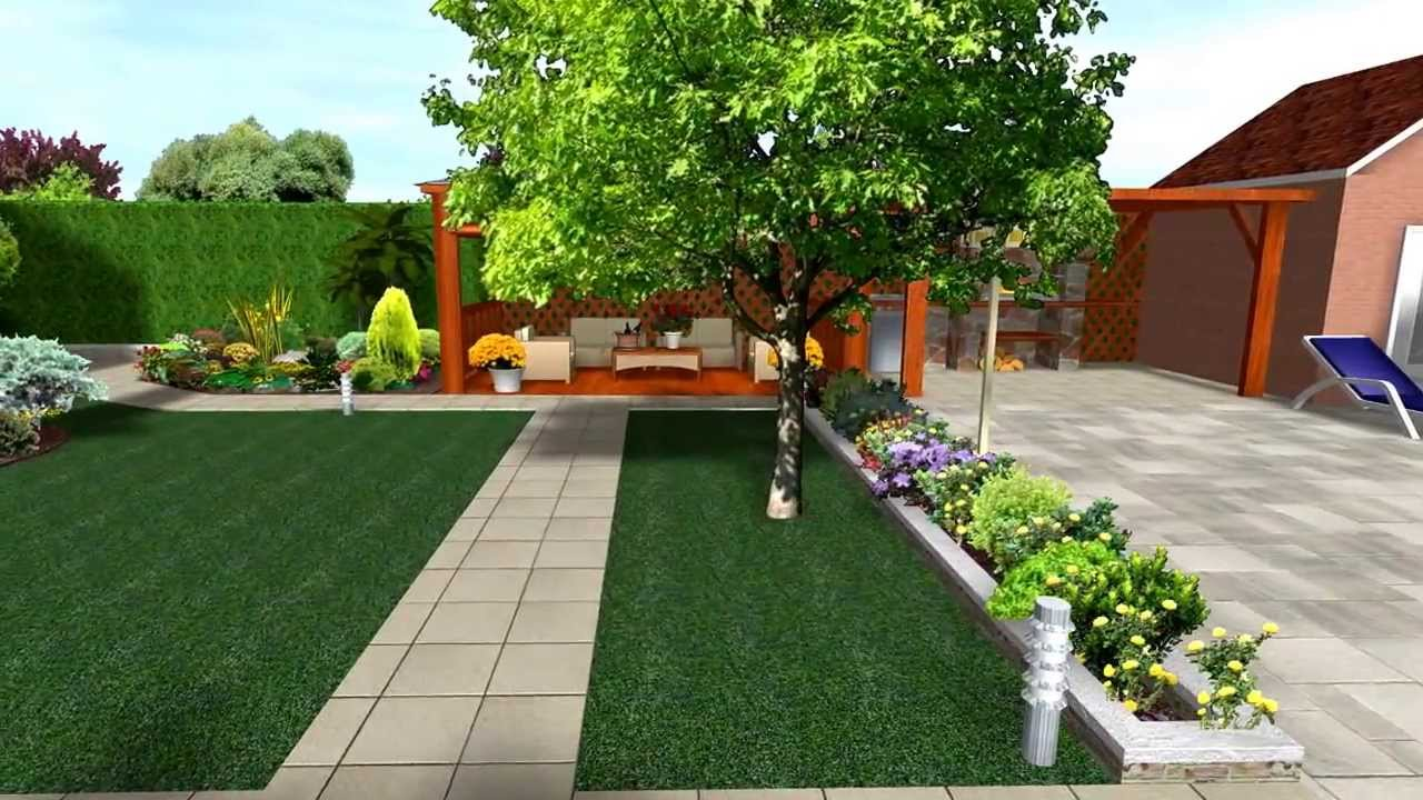 Piscijardin dise os piscina y jardin youtube for Decoracion de patios con piscina