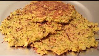 Gluten-free Vegan Zucchini Pancakes  (galettes Végétales)