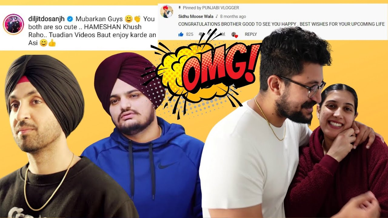 We Cannot Believe! @Diljit Dosanjh & @Sidhu Moose Wala Commented on Our Videos!