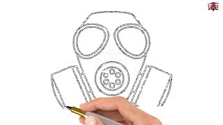 How to Draw a Gas Mask Step by Step Easy for Beginners/Kids – Simple Gas Mask Drawing Tutorial