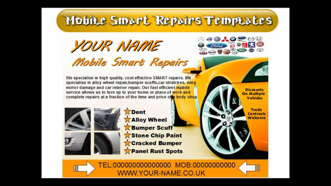 mobile smart repairs flyers youtube. Black Bedroom Furniture Sets. Home Design Ideas